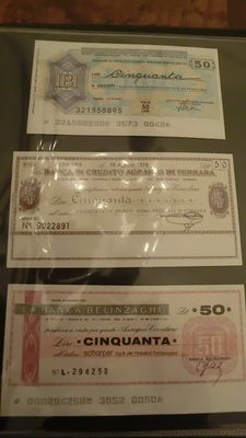 Italië - 40 cheques 1976-1977