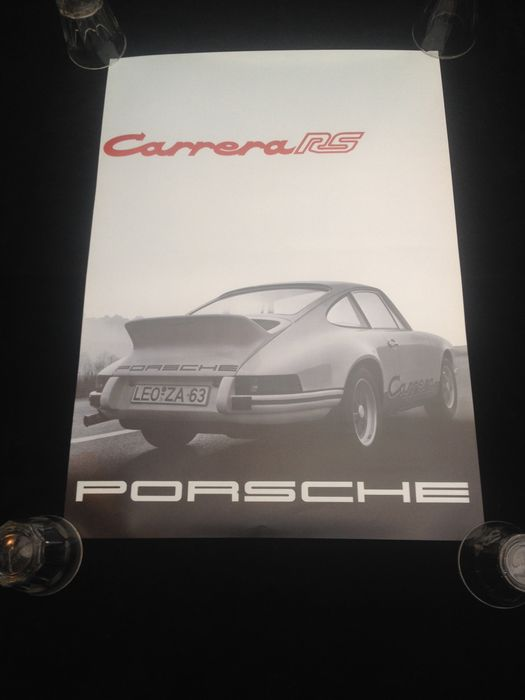 zeldzame originele porsche dealer poster carrera rs catawiki. Black Bedroom Furniture Sets. Home Design Ideas