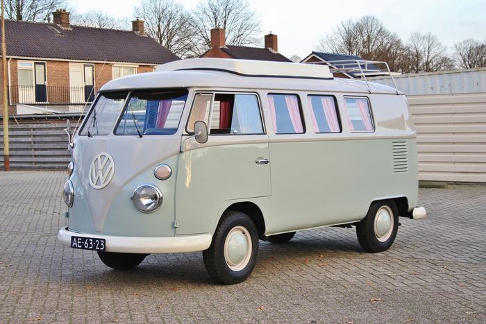 volkswagen t1 camping car avec porti re coulissante 1964 catawiki. Black Bedroom Furniture Sets. Home Design Ideas