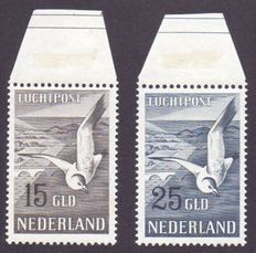 The Netherlands 1951 - Airmail Seagull - NVPH LP12/LP13, with expert certificate