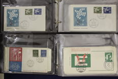 Europa stamps CEPT 1959/1961 - Collection of 257 FDCs in 4 PS1 albums