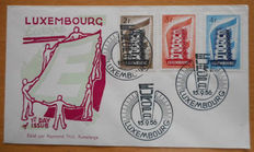 Europa stamps 1956/1973 - Selection of 15 FDCs including Luxembourg 1956 and 1957