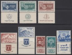 Israel 1949/1951 - Jewish New Year, 3 years independence and Jewish National fund - Philex 19/21, 57/58 and 59/61