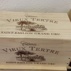 2011 - Chateau Vieux Tertre - Saint Emilion  - GRAND CRU - 2 original wooden cases with each 4 bottles. So in total 8 bottles
