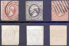 Luxembourg 1852 - Selection of Yvert 1 of 2 (2x)