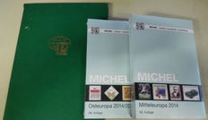 Accessories - Michel catalogues Central and Eastern Europe, issue 2014/2015 and also a batch of Switzerland in stock book