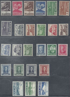 Iceland 1948/1952 - Selection of Michel 247/253, 263/270, 278/280, 281/284 and 293/295