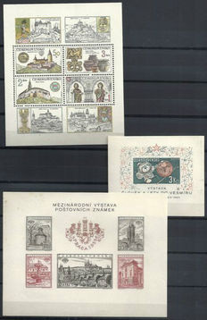 Czechoslovakia - Batch of 235 miniature sheets in stock book
