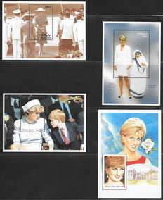 Princess Diana - Topical collection with 138 miniature sheets, sheetlets and stamps
