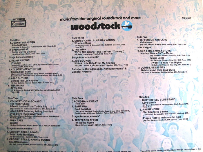 Nice Lot Woodstock Music From The Original Soundtrack 3