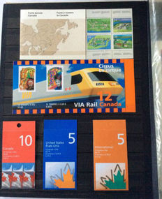 Faeroe Islands and Canada 1983/2008 - Collection stamp booklets on stock pages