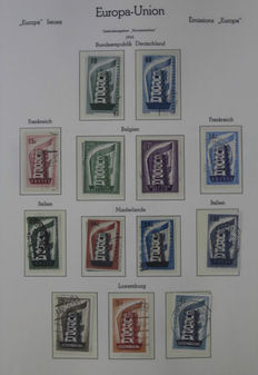Europa stamps, CEPT 1956/1976 - Almost complete collection in Leuchtturm album