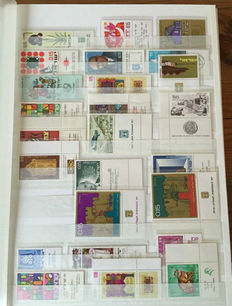 Israel - Collection in thick stock book and 2 ring binders with FDCs