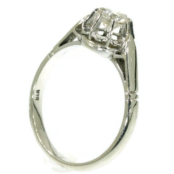 platinum and white gold solitaire engagement ring catawiki