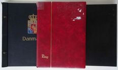 Denmark 1854/2006 - Collection with remainders in 2 stock books and 1 old Davo album