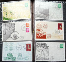 Israel 1967/1968 -  Six-Day war, 175 covers and cards about the Six-Day war and occupied areas.