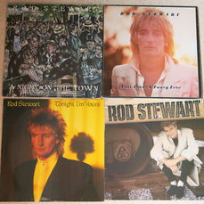 Great Lot with 10 great albums of Rod Stewart