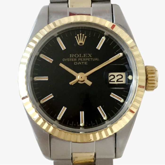 rolex oyster perpetual date damenuhr catawiki. Black Bedroom Furniture Sets. Home Design Ideas