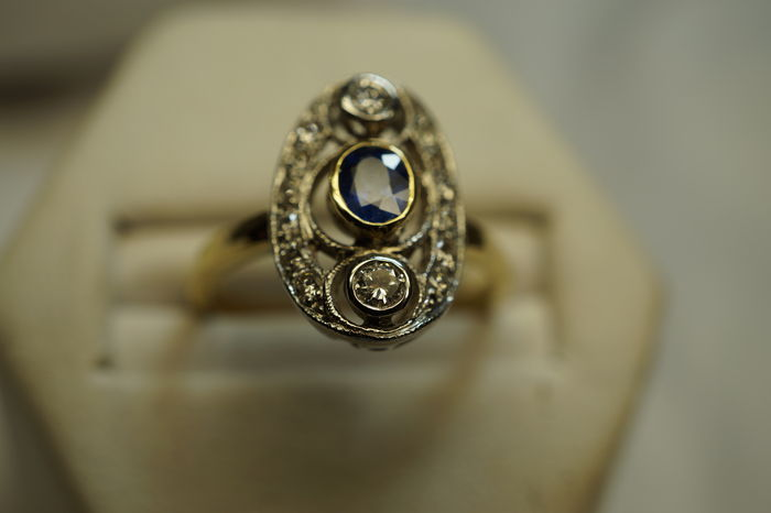 Ring In Two Tone 18 Kt Goud