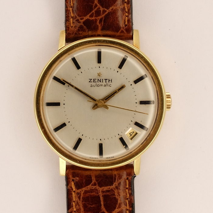 zenith automatic mens 18k solid gold 70s catawiki