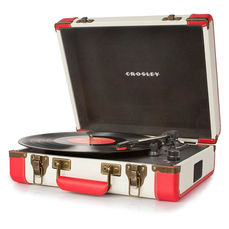 Crosley Executive Portable USB Turntable - Red/Cream