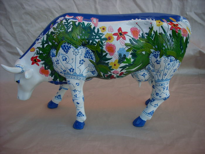 Ronald burns cowparade musselmalet decoratie koe for Decoratie koe