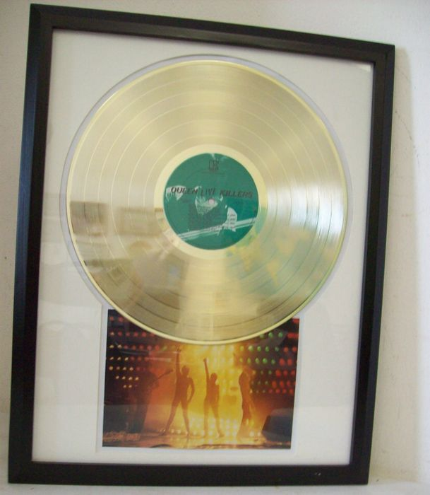 queen live killers gold plated record lp catawiki. Black Bedroom Furniture Sets. Home Design Ideas