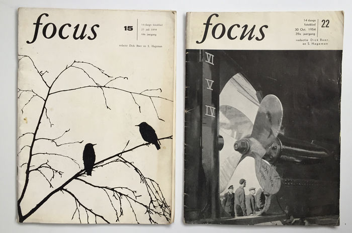 2 Vintage Photo Magazines 39 Focus 39 In Dutch 1954 And