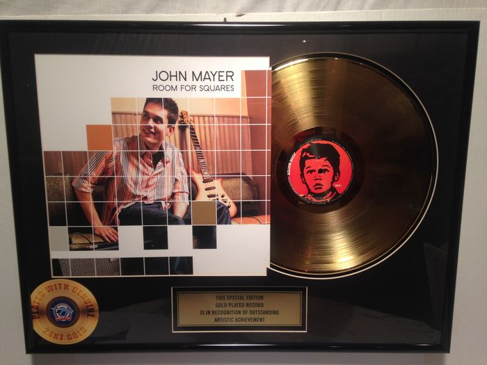 john mayer room for squares gold record 24k gold catawiki. Black Bedroom Furniture Sets. Home Design Ideas
