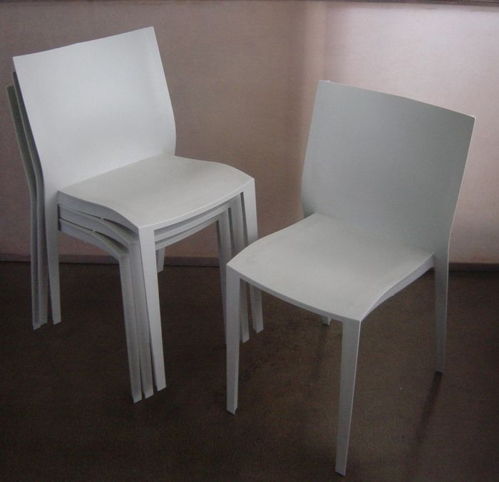 philippe starck for xo 4 slick slick chairs soft grey catawiki. Black Bedroom Furniture Sets. Home Design Ideas