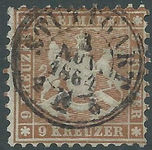 Check out our Württemberg 1863 - Coat of Arms - Michel 28b