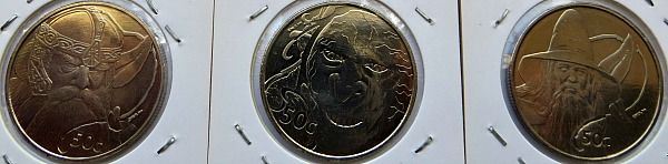 New Zealand Lord Of The Rings  Cent Coins
