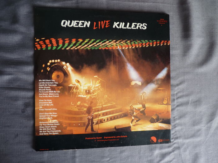 queen 39 live killers 39 2 lp album on emi 4c 154 62792 3 dutch press with the green and red. Black Bedroom Furniture Sets. Home Design Ideas