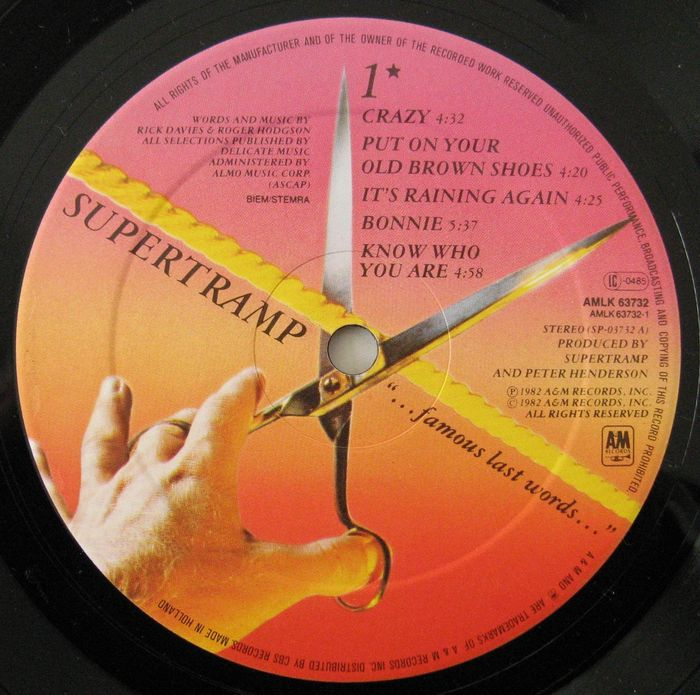Supertramp A Lot Of 4 Records Lp Free As A Bird Hoes