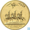 Kostbaarste item - Russia, Prussia, Austria (Triple Alliance)  Treaty of Paris  1814 - Gold