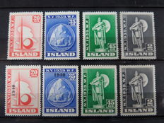 Iceland 1931/1952 - Small collection in stock book
