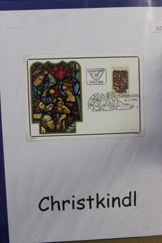 Christkindl ± 1950/1995 - Topical collection of covers, FDCs and cards in three ring binders