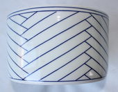 Check out our Leen Quist - Bowl with lineair Geometric Decorations