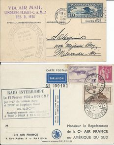 Aviation and Aerospace 1928/2004 - Collection of 88 postal items, covers, FDCs and miscellaneous