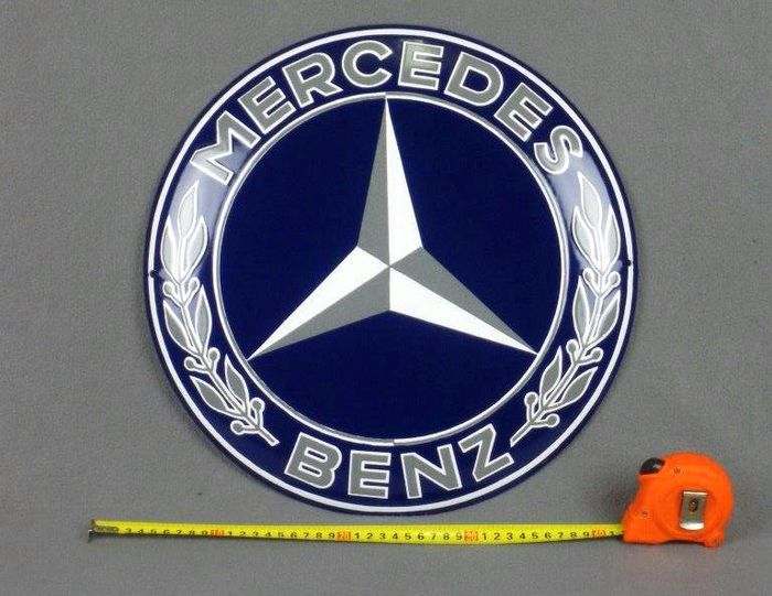 Groot emaille garage bord mercedes benz for Garage mercedes pellouailles les vignes
