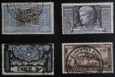 Italy 1863/1954 - Selection of stamps on stock sheets