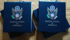 United States 1847/1969 - Collection in two DAVO luxurious albums with box