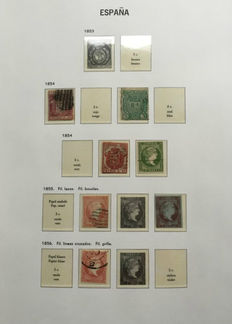 Spain 1850/1944 - Collection in stock book and Davo album