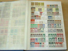 German Reich - Batch including i.a. sheetlets and sheets parts in album and sheet folders