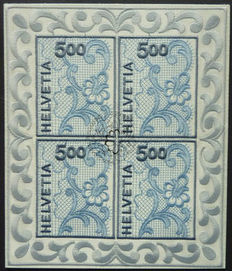 Switzerland - Collection of miniature sheets and sheetlets including a.o. the Embroidery sheetlet