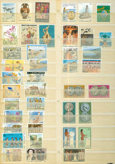 Greece, Cyprus, Malta, Italy - Batch in seven stock books and cover