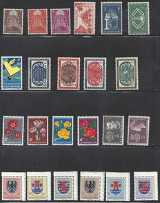 Luxembourg 1954/1957 - Nine different complete sets