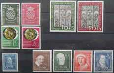 Federal Republic Germany 1959/1951 - Michel 121/122 and 139/147