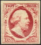 Check out our The Netherlands 1852 - King Willem III First emission - NVPH 2, with certificate