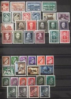 Austria 1938/2001 - Collection in 2 stock albums - MNH 1837, 1945/2001